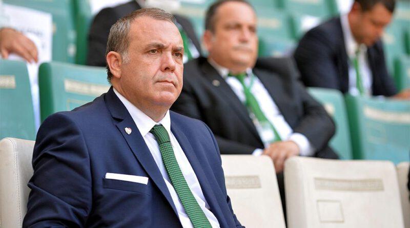 Bursaspor Başkanı Erkan Kamattan Mustafa Ere güvenoyu